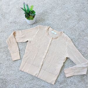 Tan Sandro Audrey Cardigan Stretchy Knitted